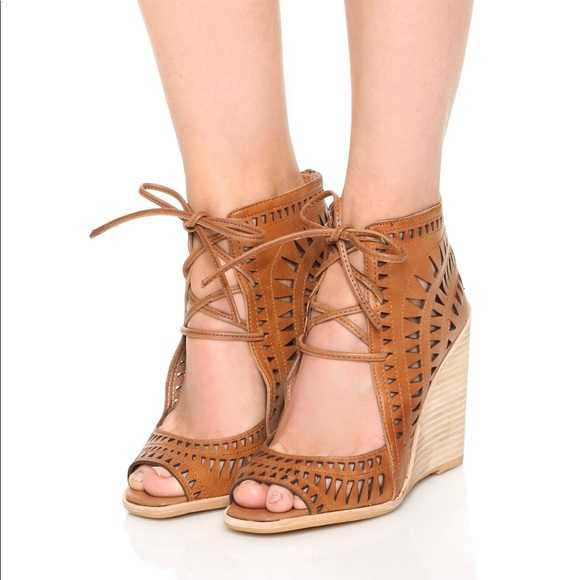 84a3271c91 Jeffrey Campbell Shoes - Jeffery Campbell Rodillo-Hi leather wedge sandal